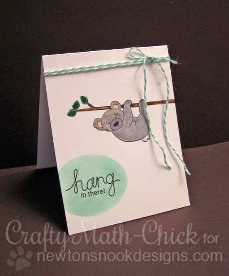 Hang in the Koala Bear card by Crafty Math-Chick | Hanging Around Stamp set by Newton's Nook Designs