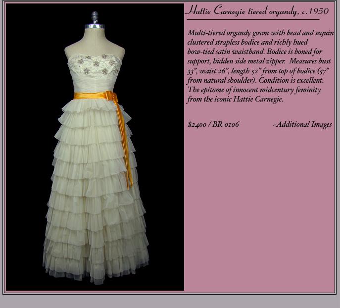 Wedding Dresses : Vintage Designer Showcase
