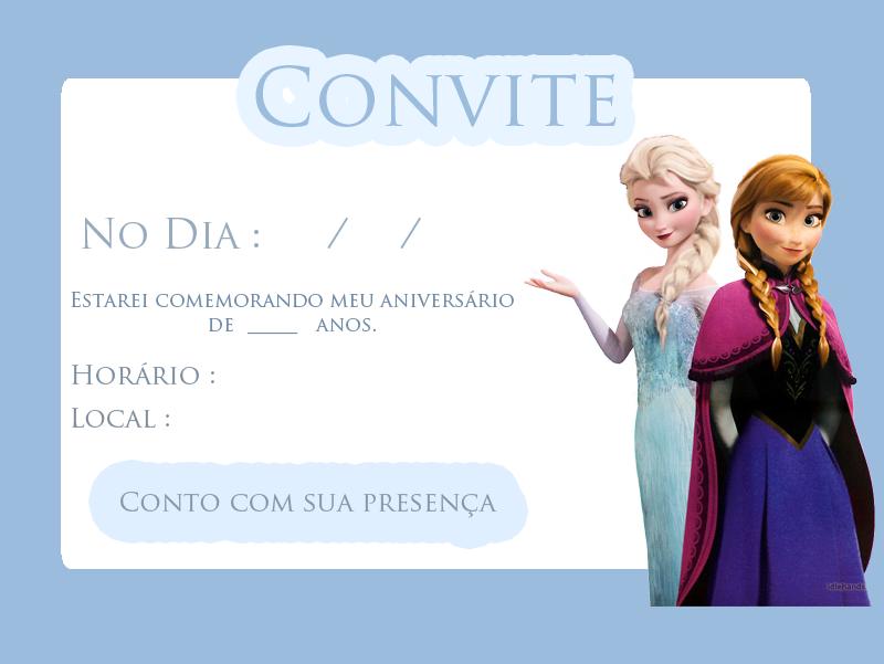 convite festa frozen