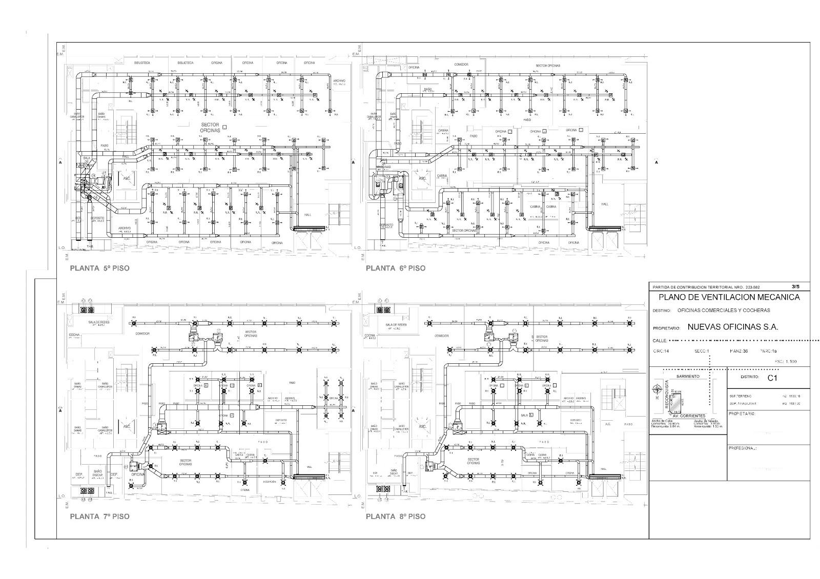 Ultra Arquitectura Plano Ventilacion Mecanica 1