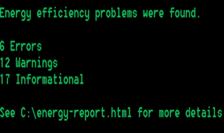command for  power efficiency report in windows 7