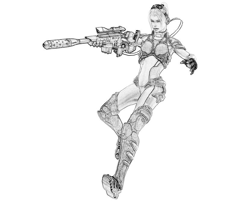 Printable StarCraft II Heart Of The Swarm Nova Gun Coloring Pages title=