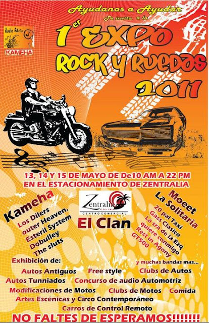 flyer  Expo Rock y Ruedas 2011