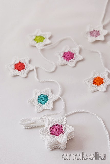 free crochet pattern star garland