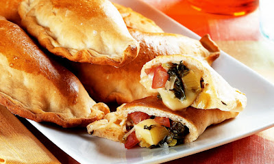 Calzone de escarola light