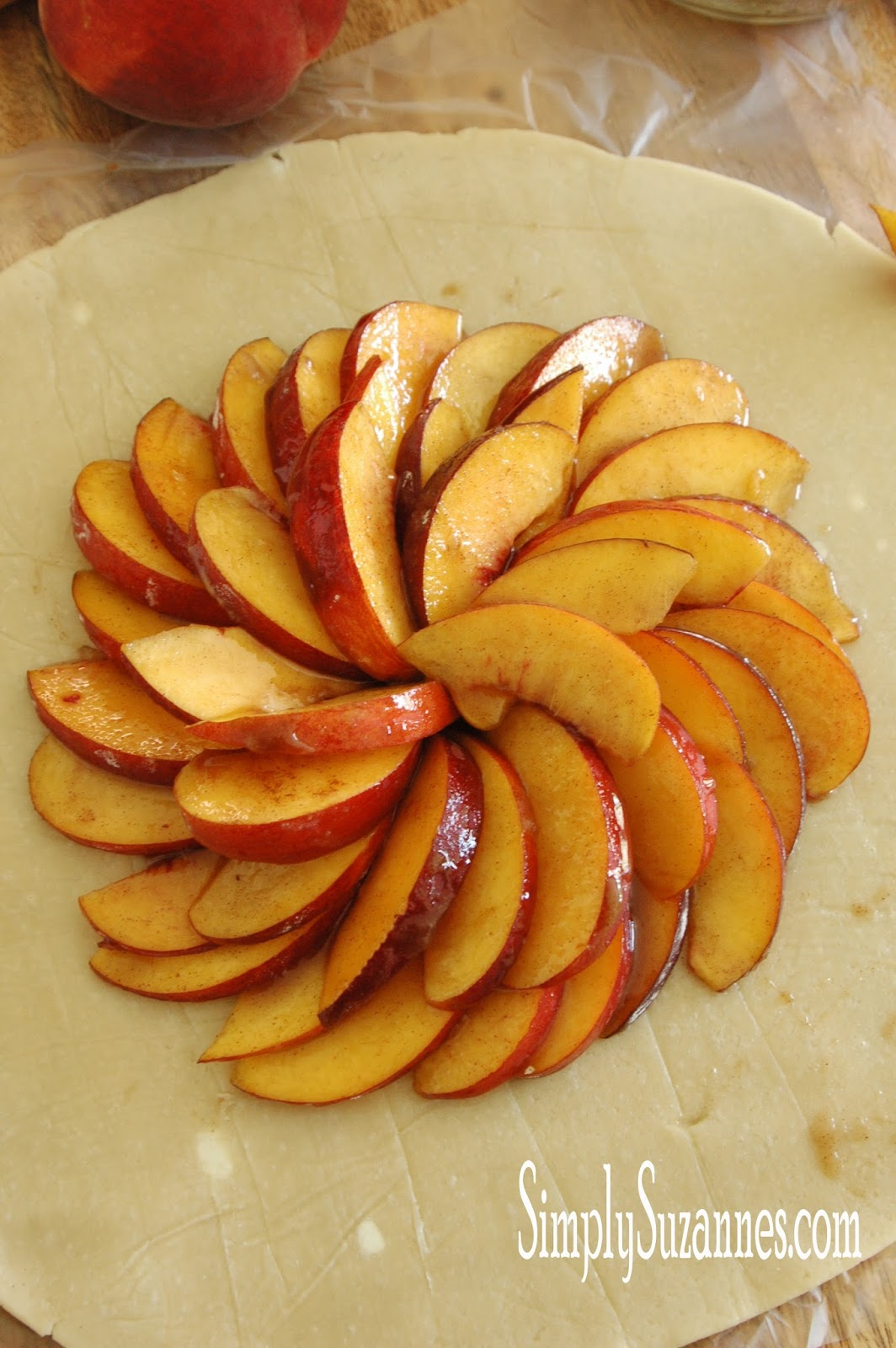 Simply Suzanne's AT HOME: peach and almond galette