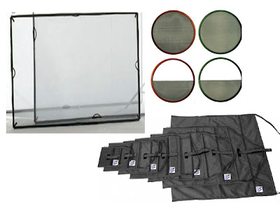 Scrims used in photography to control light