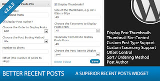Better Recent Posts Widget Pro