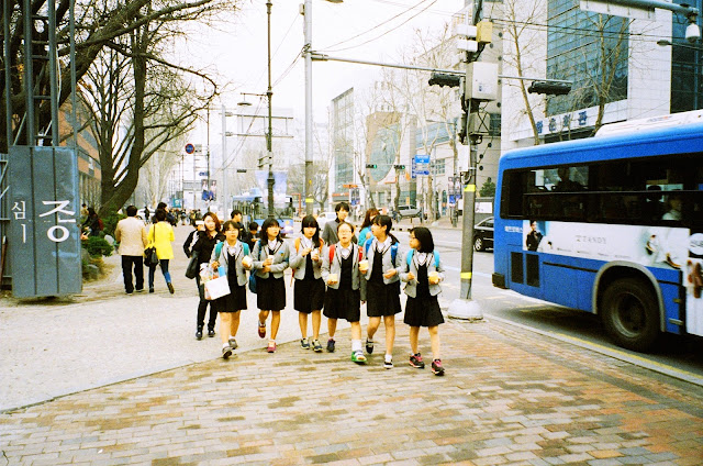south korea high school uniform girls city seoul