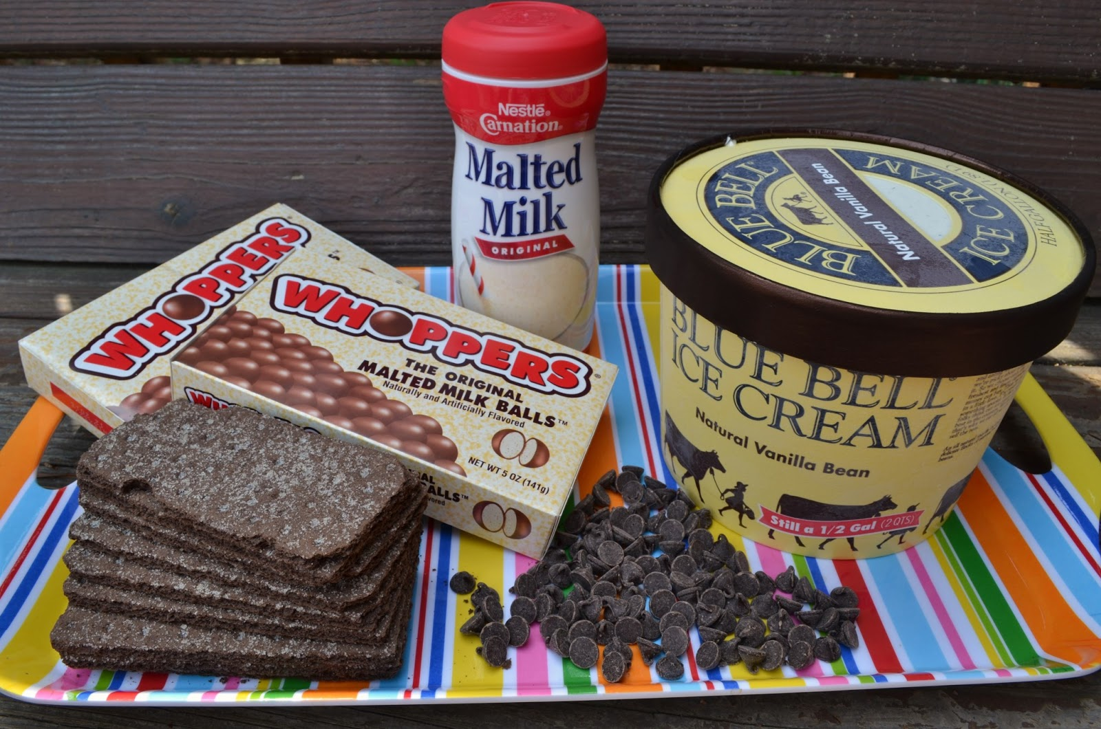 bonbons & biscotti: Whoppers Malted Milk Ball Ice Cream Cake