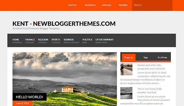 Kent Free Blogger Template