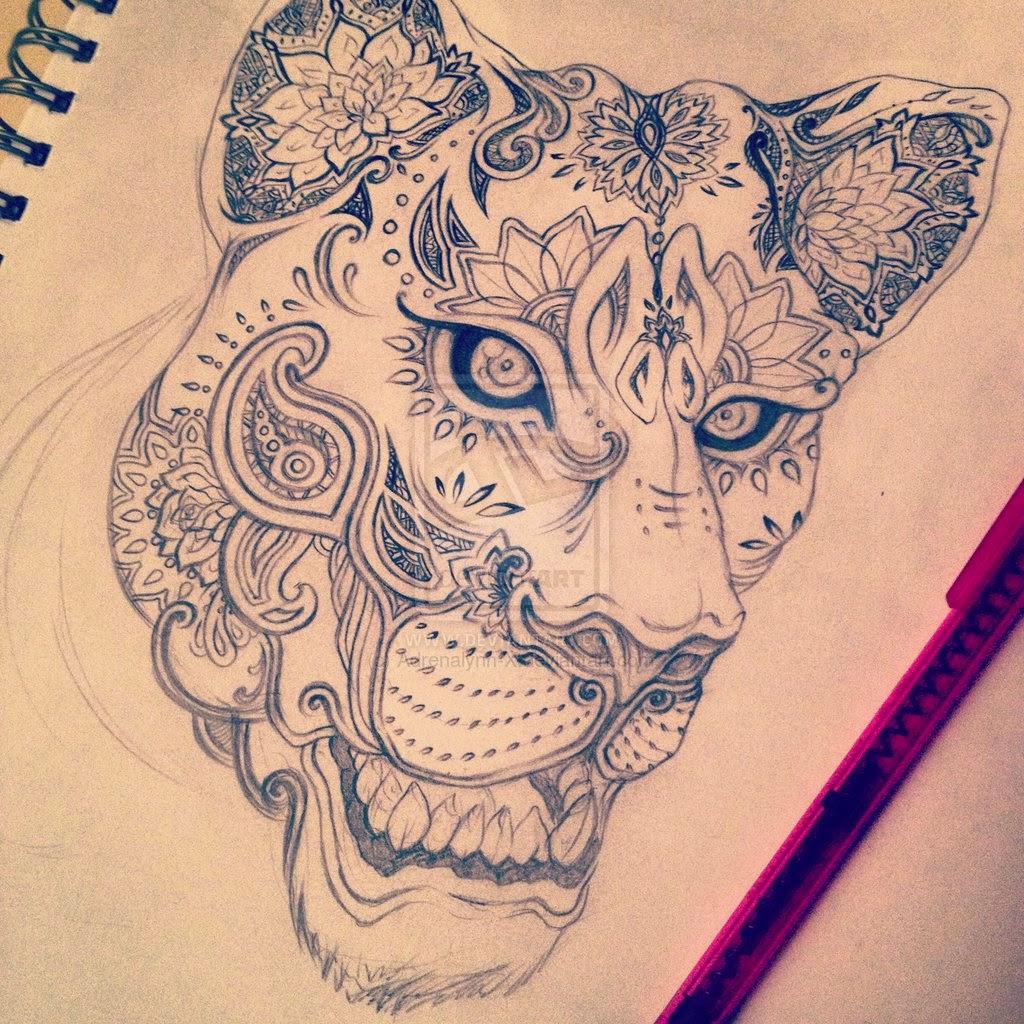 http://www.deviantart.com/art/Lioness-Sugarskull-438191763