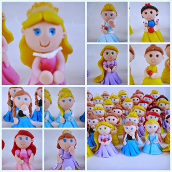 princesinhas de biscuit