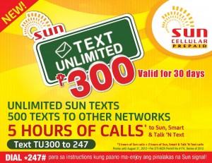 Sun Cellular TU300, LoadCentral, Sun Trioplus, Promos