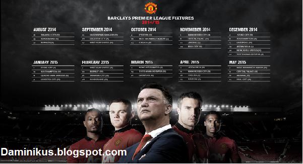 tabel tanggal pertandingan manchester united 2014/2015
