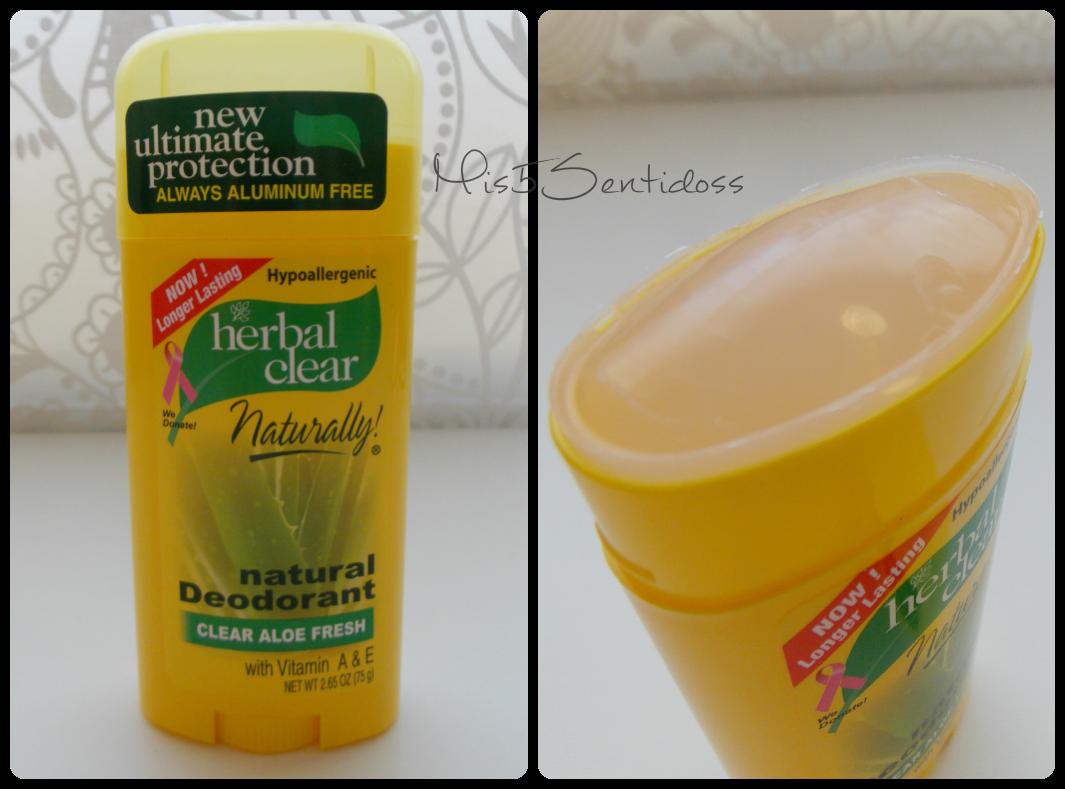 Iherb Desodorante Natural sin aluminio Aloe vera