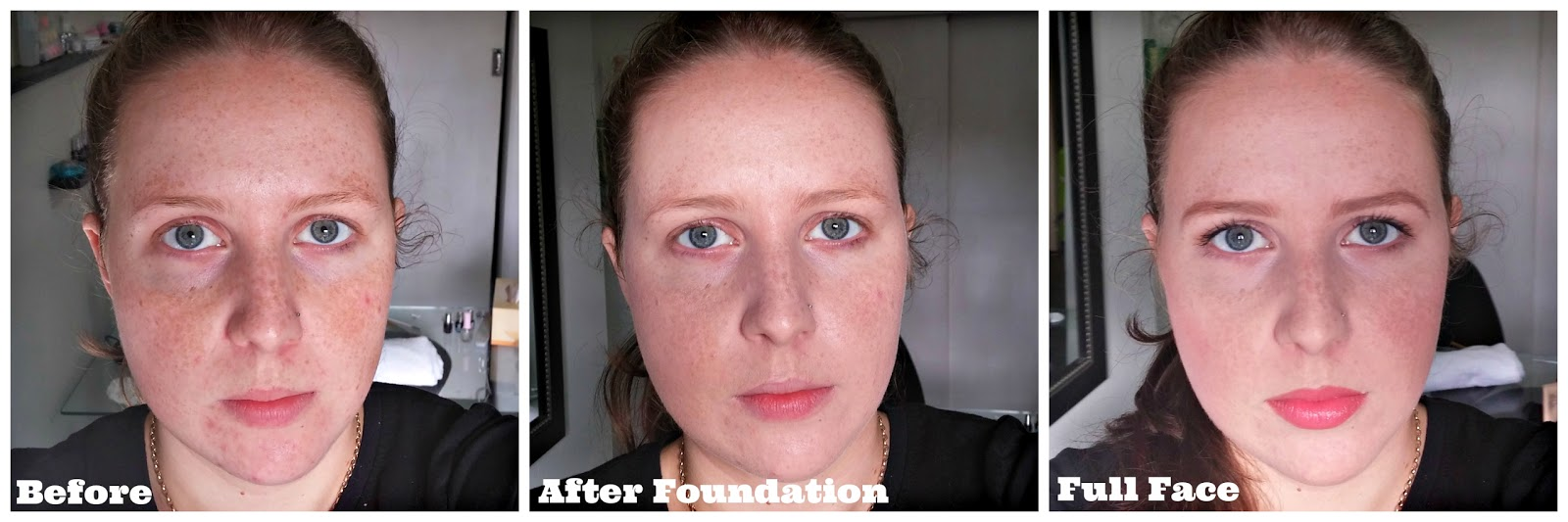 Before And After Estee Lauder Double Wear Light Intensity 1