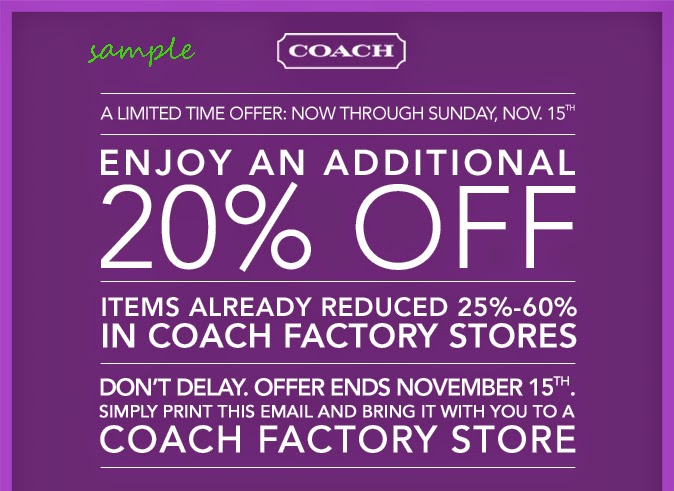 Coach discount coupons online