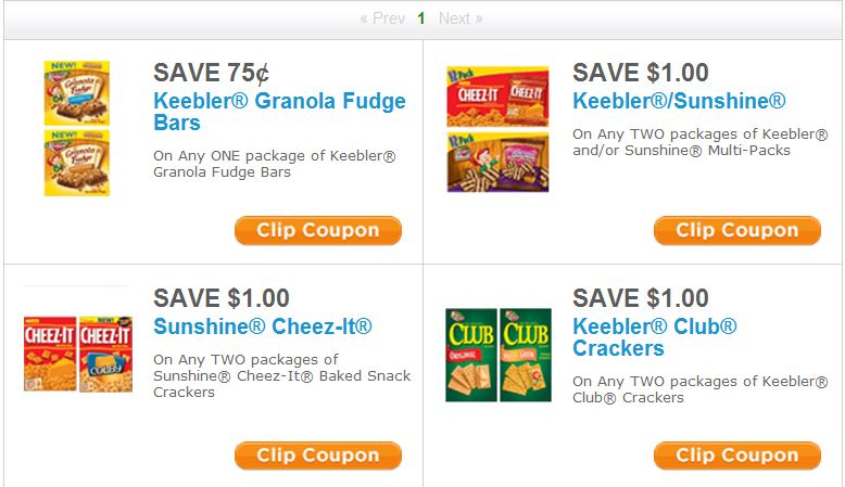 Do you want to save when you buy Sunshine Cheez-It Baked Snack Crackers? This coupon is for $1 off when you buy two boxes of this item. Find Sunshine Cheez-It Baked Snack Crackers at your local store today and save! Sunshine Cheez-It Baked Snack Crackers $1 Off.