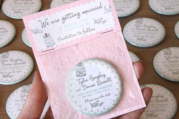 pale pink save the date