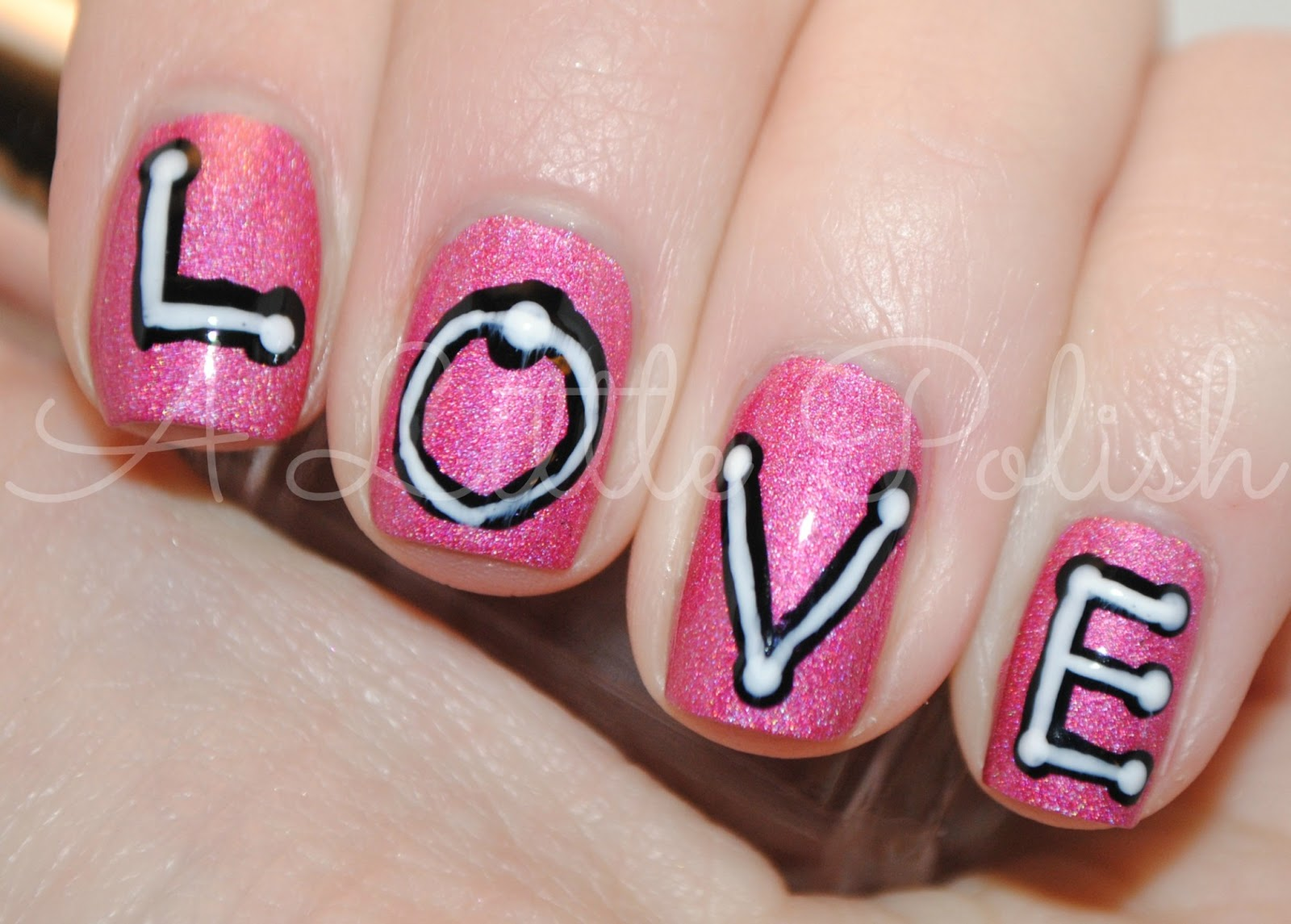 A Little Polish February Nail Art Challenge Love