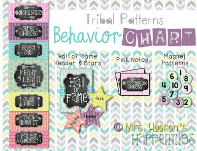 https://www.teacherspayteachers.com/Product/Behavior-Color-Chart-Tribal-Patterns-1888145