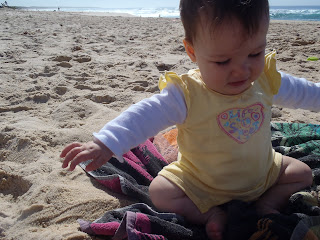 Baby at beach