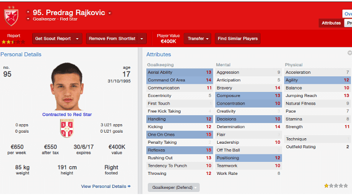 FM14 Predrag Rajkovic Red Star
