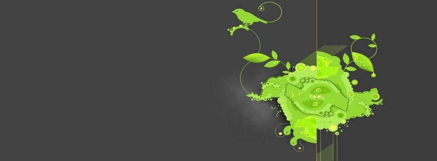 Yeşil kuş ve yapraklar kapak resimleri