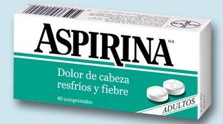 caja con aspirinas