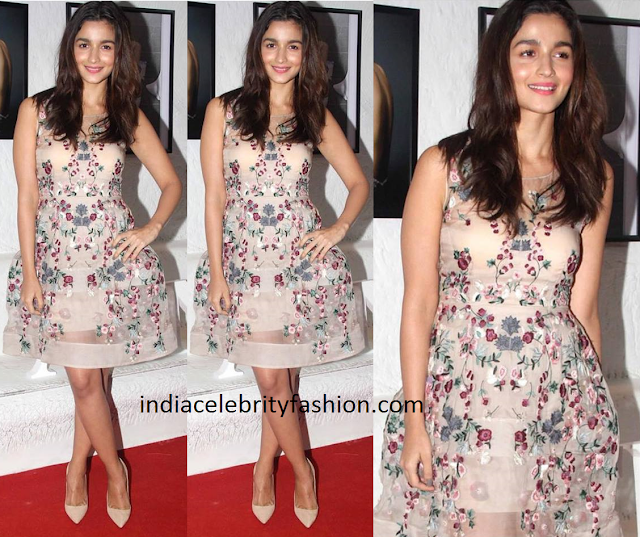 Alia Bhatt in Shriya Som Floral Dress