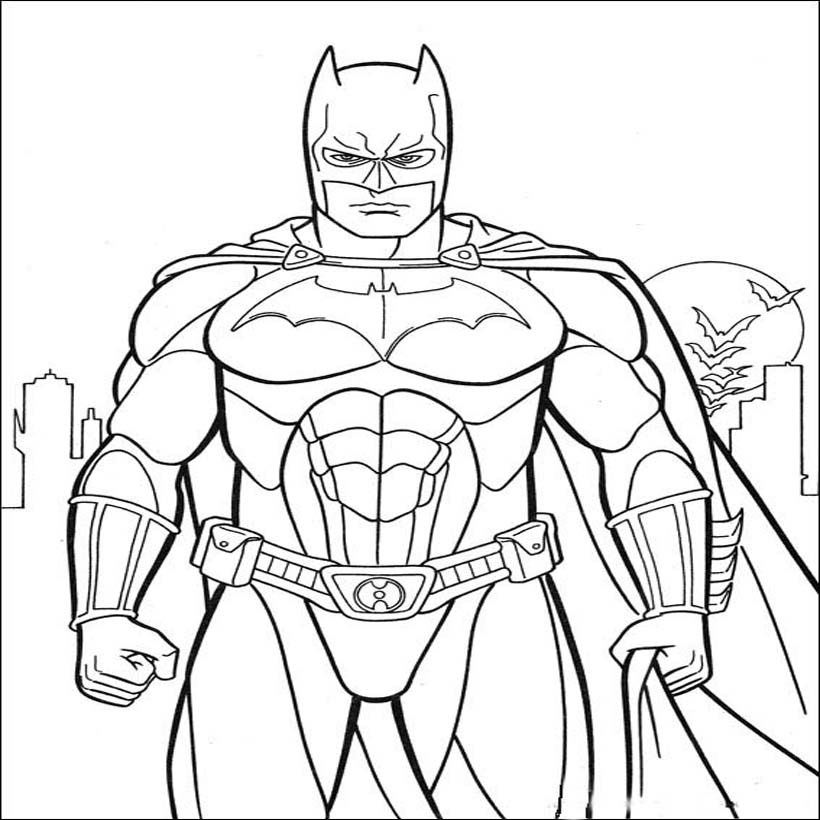 Batman Coloring Pictures Pages For Kids Coloring Cartoons Batman Coloring Book Pages