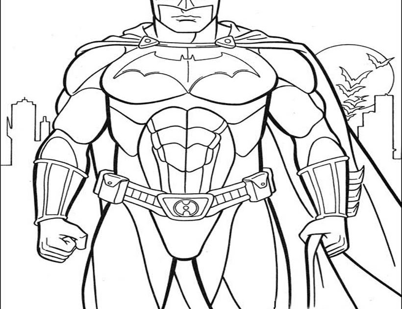 Batman Coloring Pictures Pages For Kids