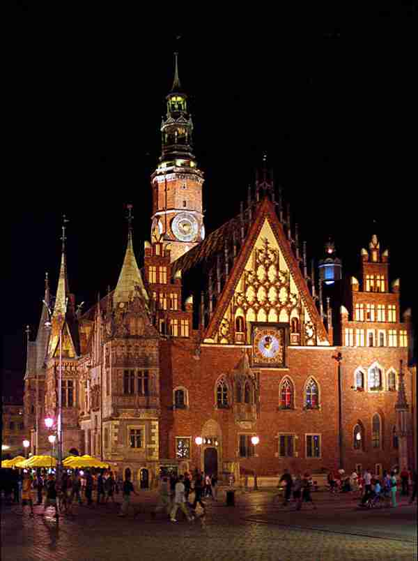 Town hall in Wrocław, Poland
