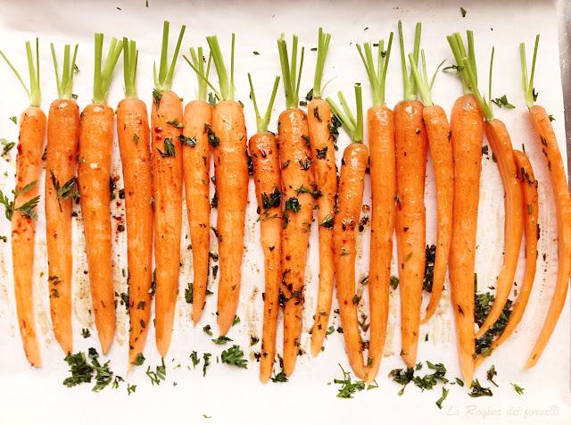 carote col ciuffo al balsamico