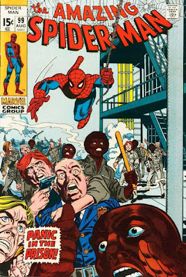 Amazing Spider-Man #99, prison riot, Gil Kane cover