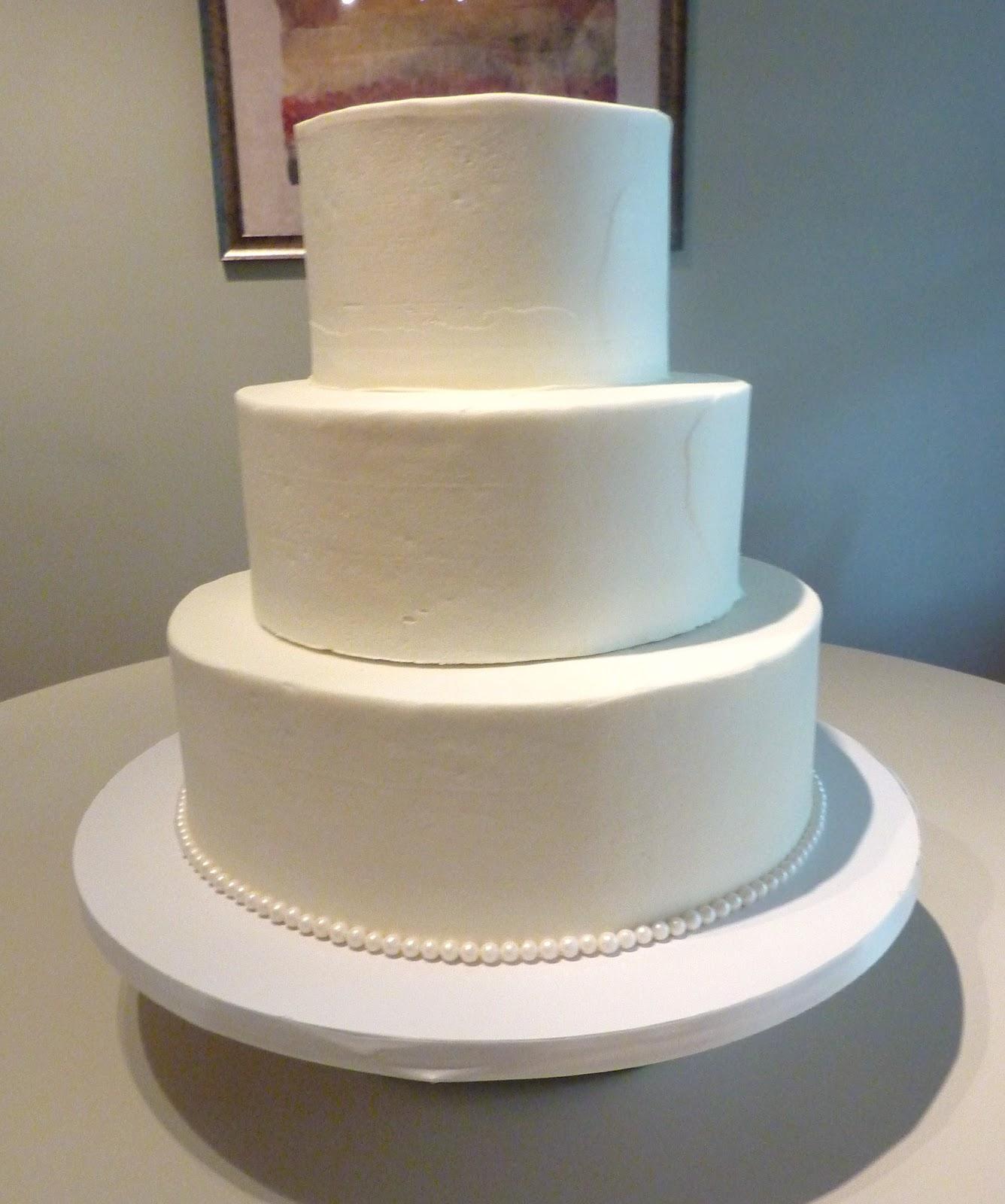 Plain White Square Wedding Cake