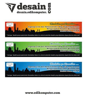Download desain spanduk Ramadhan format Coreldeaw