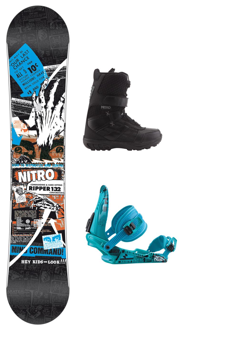 Verleiht kinder snowboard sets zum kleinen preis für die ganze saison