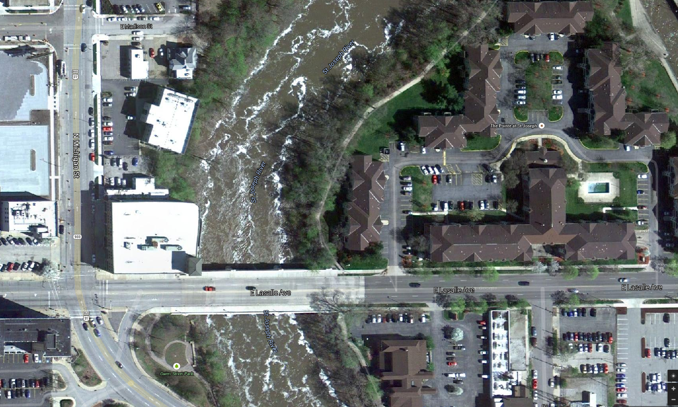 google map aerial view of former south shore yard