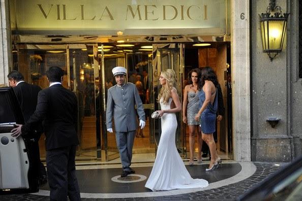 Petra Ecclestone s sexy white ivory Vera Wang Wedding Rehearsal DressPetra Ecclestone Wedding Dress Vera Wang