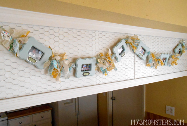 Scrappy Photo Frame Garland at my3monsters.com
