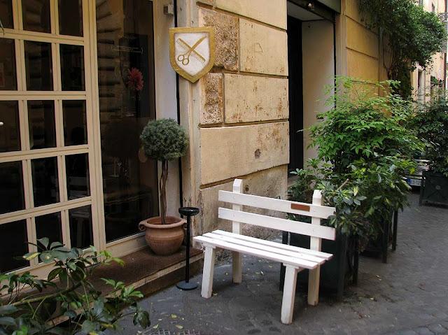 Bench, Via dei Banchi Nuovi, Rome