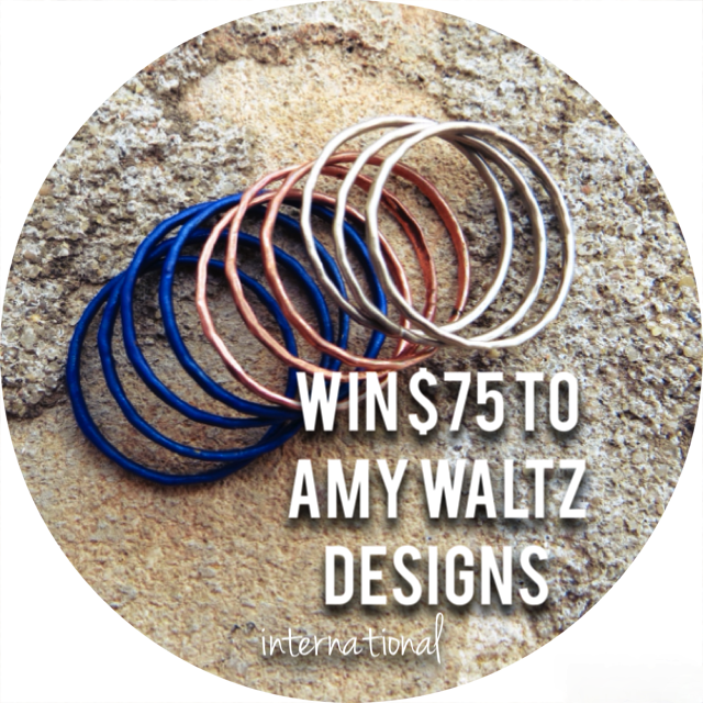 Amy Waltz Designs, stacking rings, starry night stacking rings, knuckle rings, giveaway, sweepstakes, contest, freebie friday, fashion freebie, free jewelry, handmade jewelry, metal jewelry, etsy, style blogger