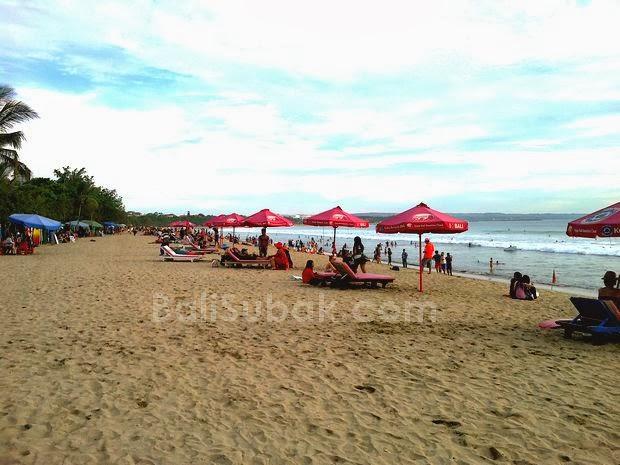 Sunbathing on Kuta Beach