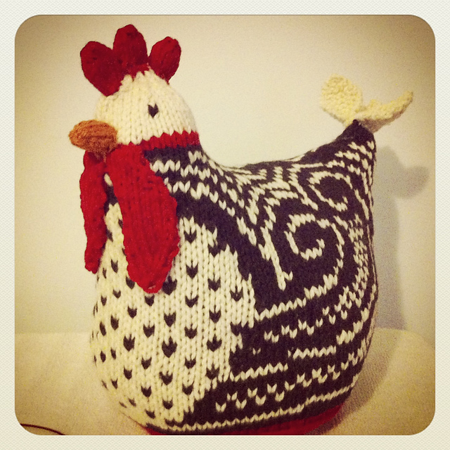 Knitting Patterns Toy Chicken : Life on Laffer: Going Away Chicken