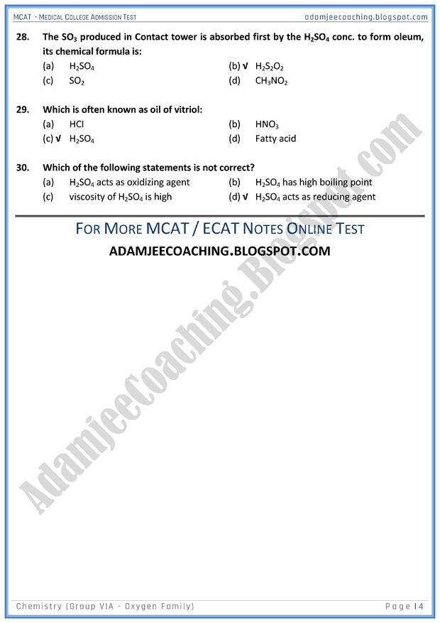 mcat-chemistry-group-vi-a-oxygen-family-mcqs-for-medical-entry-test