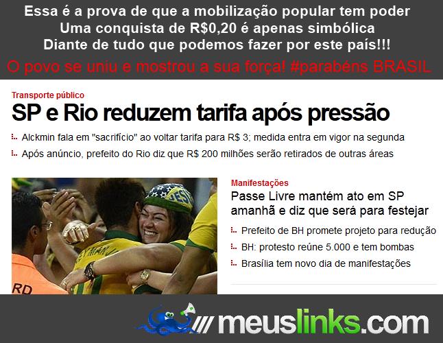 São Paulo e Rio baixam as passagens