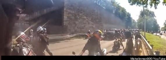 video  york bikers assault suv driver