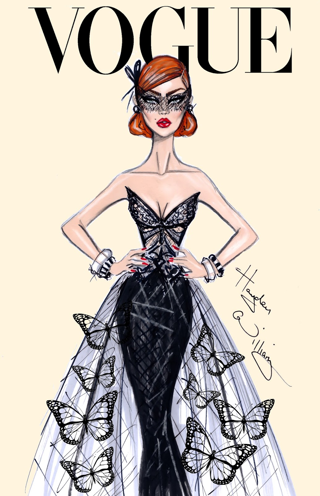 Hayden Williams Fashion Illustrations Butterfly Effect By